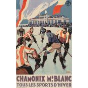 Roger Broders (1883-1953) Chamonix, Mt. Blanc