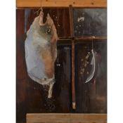 § IAN RITCHIE R.A. (BRITISH b.1947-) HANGING FISH - C.1987