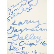 CY TWOMBLY (AMERICAN 1928-2011) NOTES FROM SALALAH - 2008