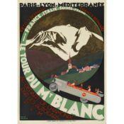 Roger Broders (1883-1953) Le Tour du Mont Blanc