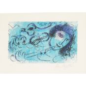 § MARC CHAGALL (RUSSIAN/FRENCH 1887-1985) THE FLUTE PLAYER (M. 197) - 1957