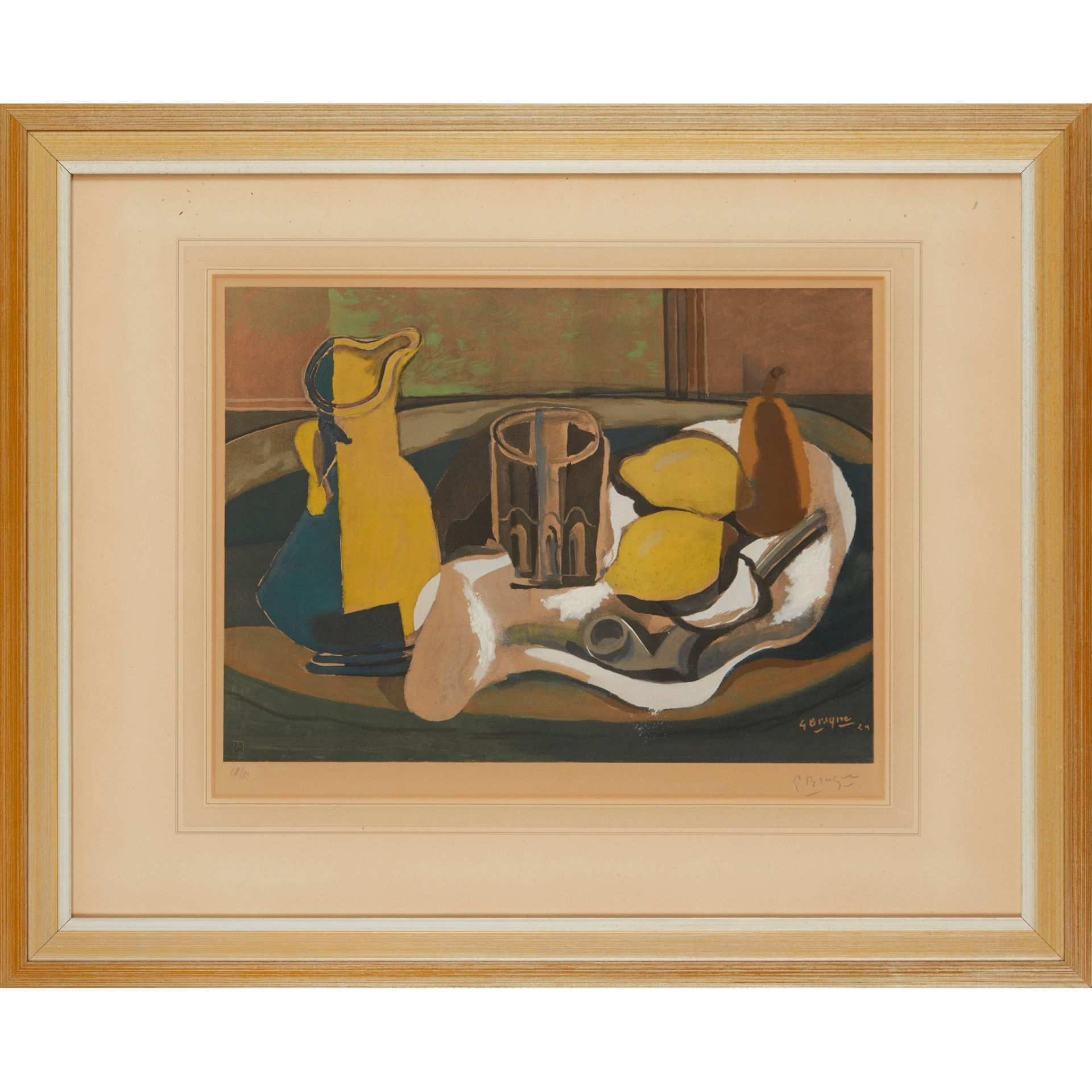 § GEORGES BRAQUE (FRENCH 1882-1963), AFTER STILL-LIFE WITH TWO LEMONS AND A PIPE - Image 3 of 4