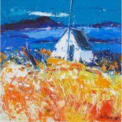 § ? John Lowrie Morrison (Jolomo) O.B.E. (Scottish 1948-) WEE HUT - CULIPOOL LOOKING TO SCARBA