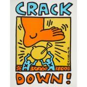 KEITH HARING (AMERICAN 1958-1990) CRACK DOWN - 1986