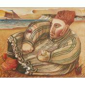 § JOHN BYRNE (SCOTTISH B.1940) ON THE SEASHORE