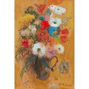 § DAVID MCCLURE R.S.A., R.S.W. (SCOTTISH 1926-1998) LITTLE FLOWER PIECE