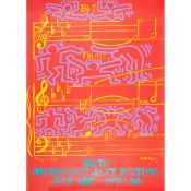 ANDY WARHOL (AMERICAN 1928-1987) AND KEITH HARING (AMERICAN 1958-1990) MONTREUX JAZZ FESTIVAL -