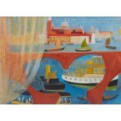 § MARGARET MELLIS (BRITISH 1914-2009) VIEW OF SAN GIORGIO MAGGIORE - C.1948
