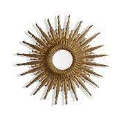 CONTINENTAL GILTWOOD SUNBURST MIRROR LATE 19TH/ EARLY 20TH CENTURY