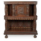 OAK PRESS CUPBOARD EARLY 17TH CENTURY AND LATER