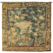 FLEMISH VERDURE TAPESTRY LATE 17TH CENTURY