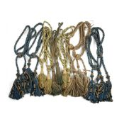 GROUP OF DRAPERY TIEBACKS AND TASSELS 19TH/ EARLY 20TH CENTURY
