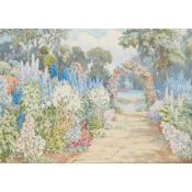 § BEATRICE E PARSONS (BRITISH 1870-1955) A SUSSEX GARDEN IN JULY