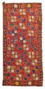 LAKAI FLATWEAVE CARPET UZBEKISTAN, EARLY 20TH CENTURY
