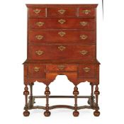 QUEEN ANNE OAK CHEST-ON-STAND EARLY 18TH CENTURY