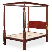 GEORGE III MAHOGANY FOUR POSTER BED LATE 18TH CENTURY