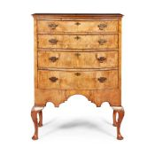 GEORGE I STYLE WALNUT TALLBOY 20TH CENTURY