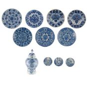 COLLECTION OF DUTCH DELFT 18TH CENTURY AND LATER