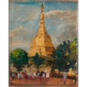 § Gerald Festus Kelly K.C.V.O., P.R.A., R.H.A., H.R.S.A. (British 1879-1972) Shwe Dagon Pagoda,