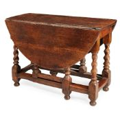 GEORGE I OAK DROP-LEAF TABLE EARLY 18TH CENTURY