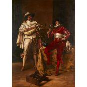 ADOLPHE ALEXANDRE LESREL (FRENCH 1839-1929) Gentilshommes fetant le vieux vin de France
