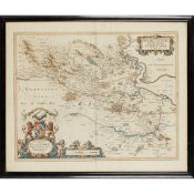 Blaeu, Jan 8 framed and glazed Scottish maps, 17th century