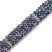 A Kyanite and diamond set bracelet