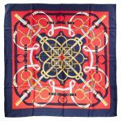 A silk scarf, Hermès