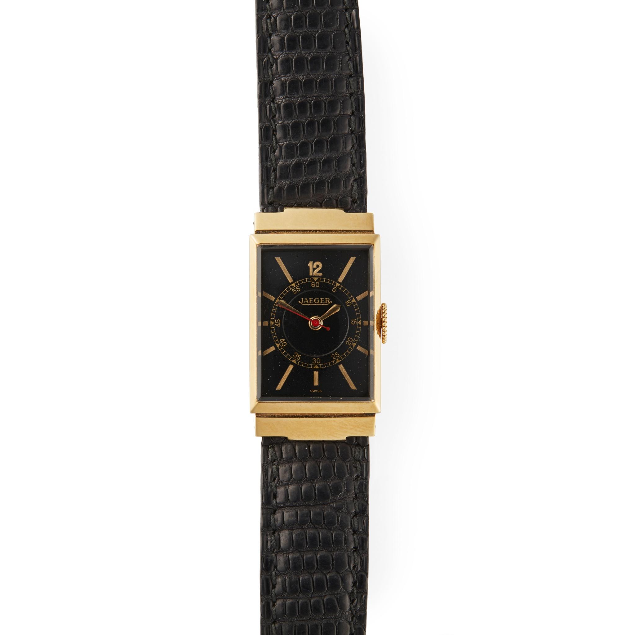 Jaeger-LeCoultre: a gentleman's gold wrist watch