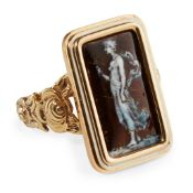 A enamelled plaque ring