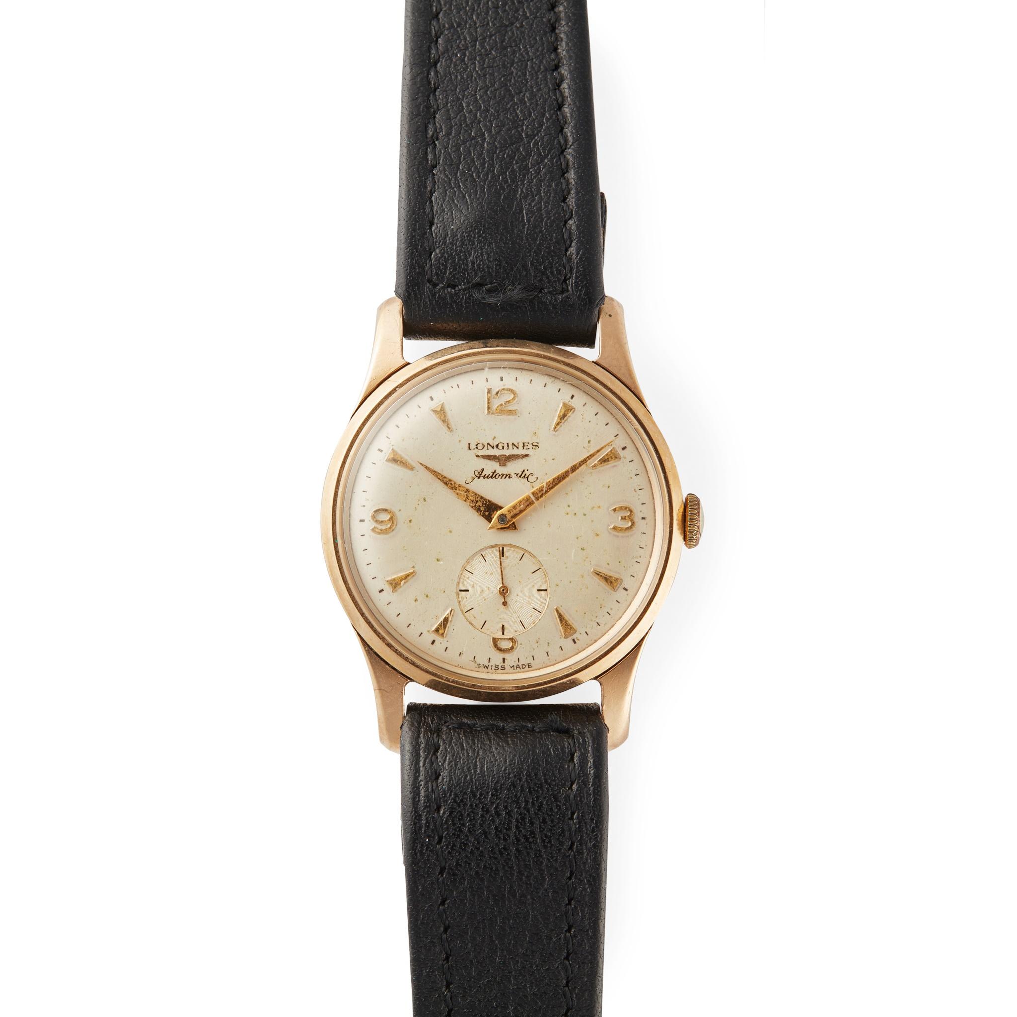 Longines: a gentleman's gold wrist watch