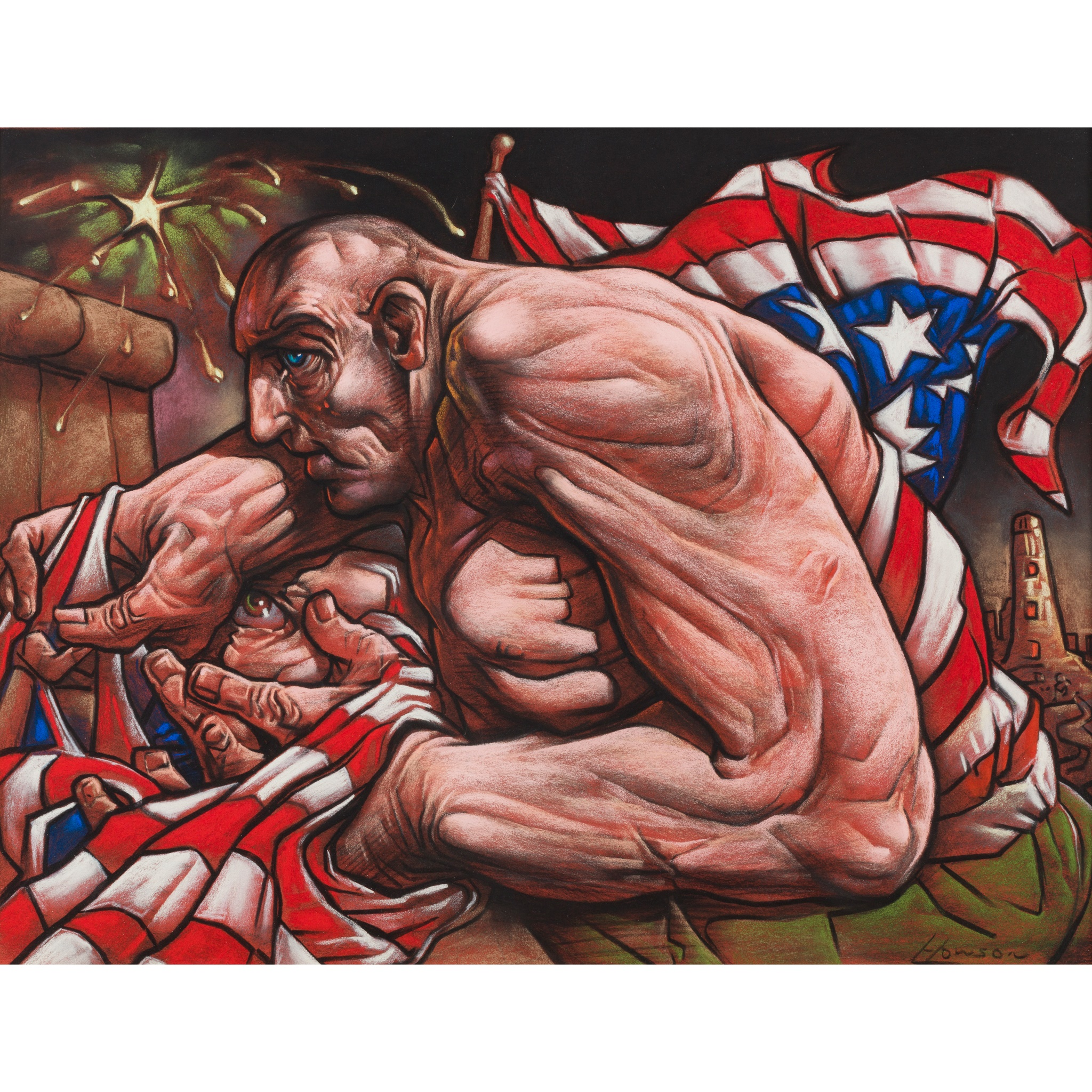 § PETER HOWSON O.B.E. (Scottish B.1958) SENTINAL