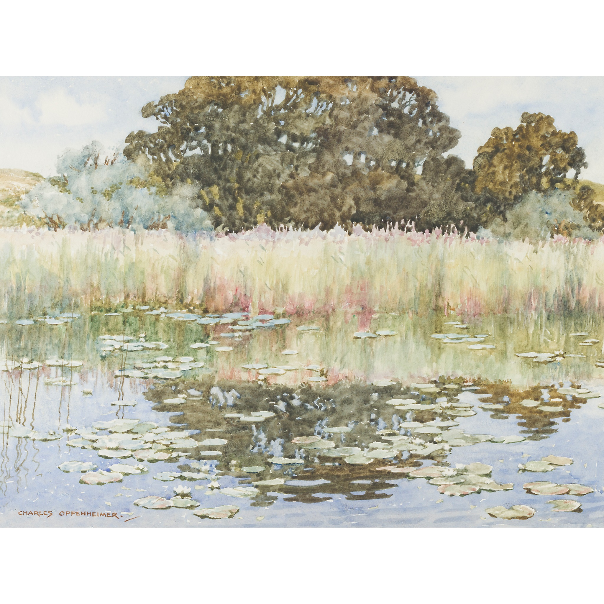 § CHARLES OPPENHEIMER R.S.A., R.S.W (SCOTTISH 1876-1961) THE LILY POND