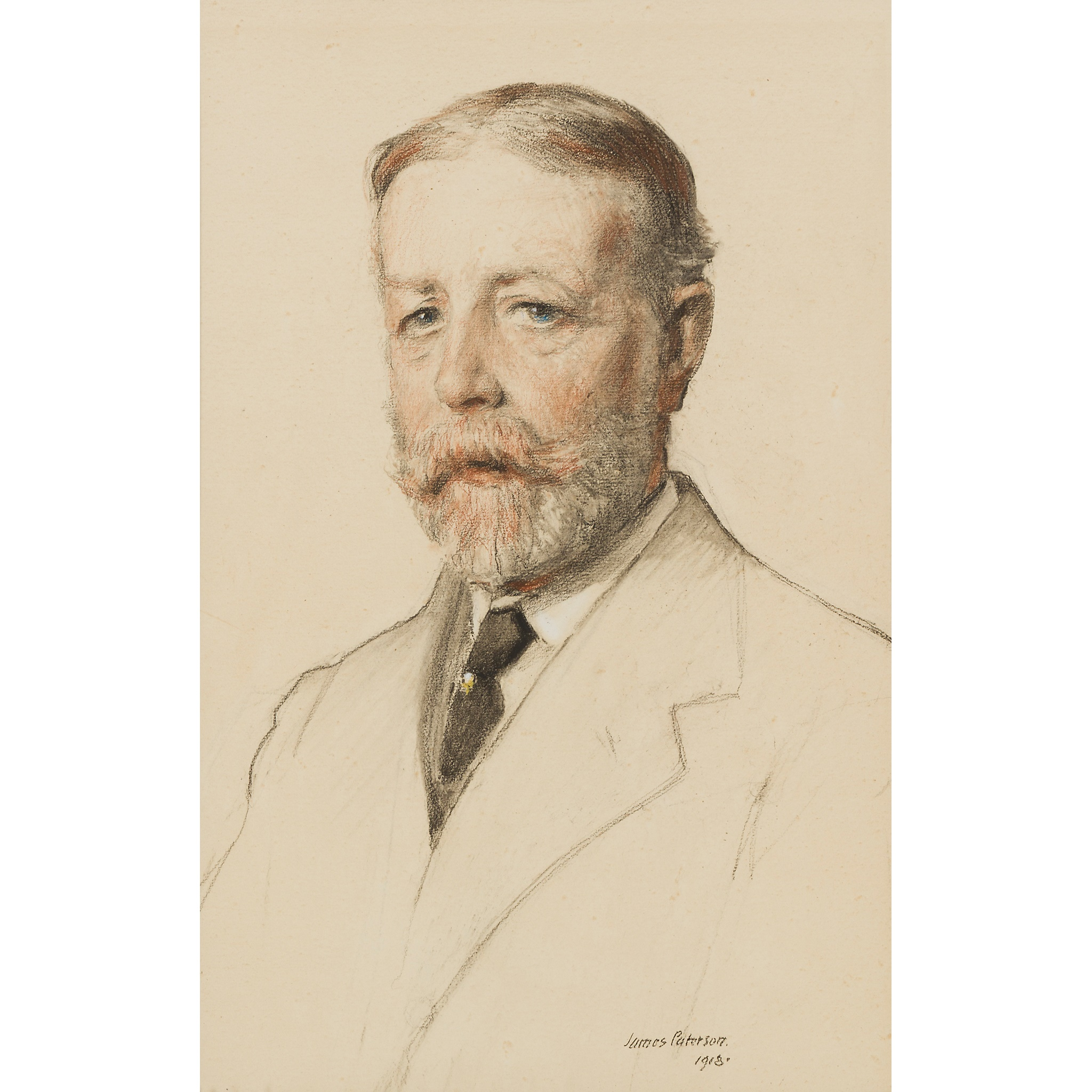 JAMES PATERSON R.S.W., R.S.A., R.W.S. (SCOTTISH 1854-1932) PORTRAIT OF J.COOK- 18 INDIA STREET