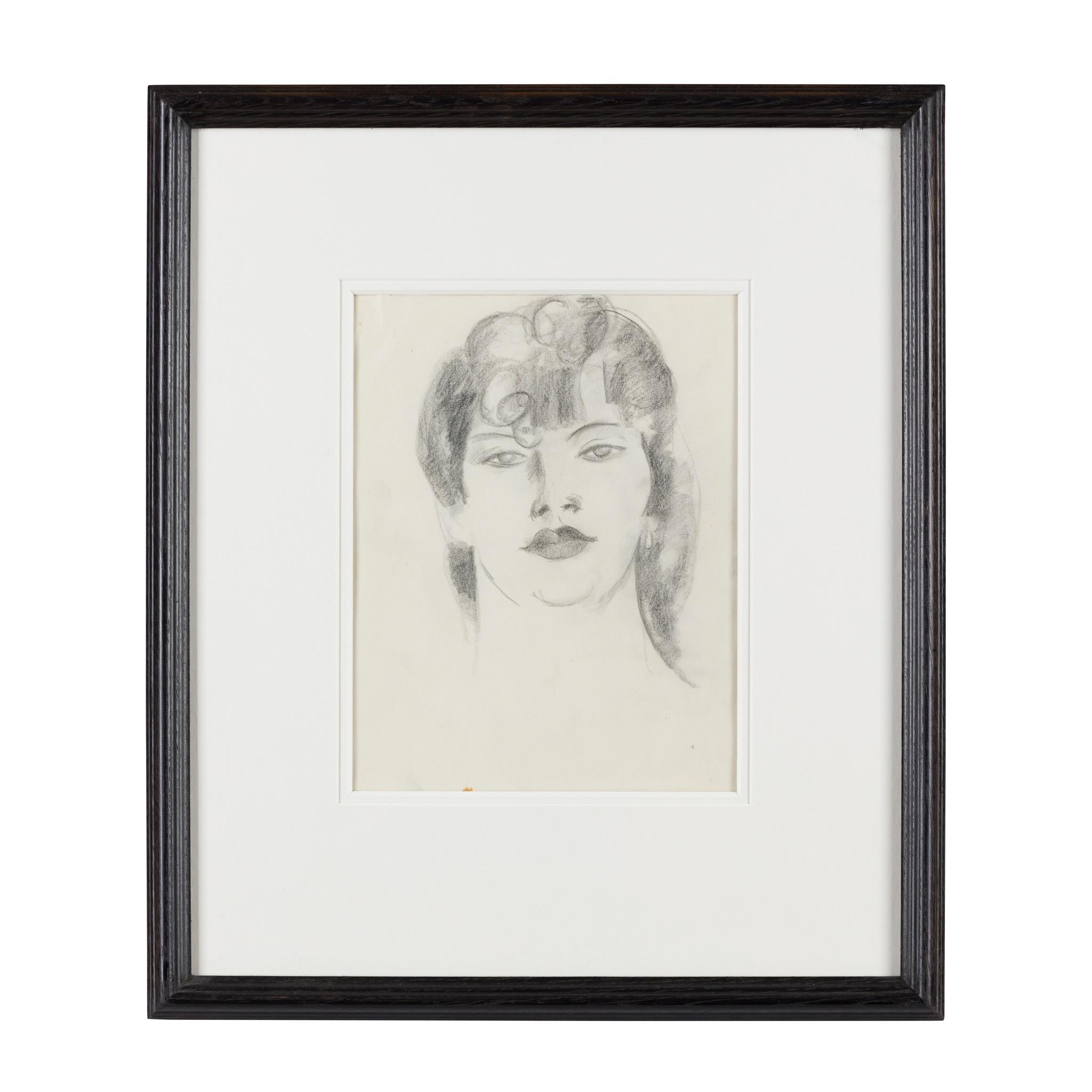 § JOHN DUNCAN FERGUSSON R.B.A. (SCOTTISH 1874-1961) PORTRAIT HEAD - Image 2 of 3