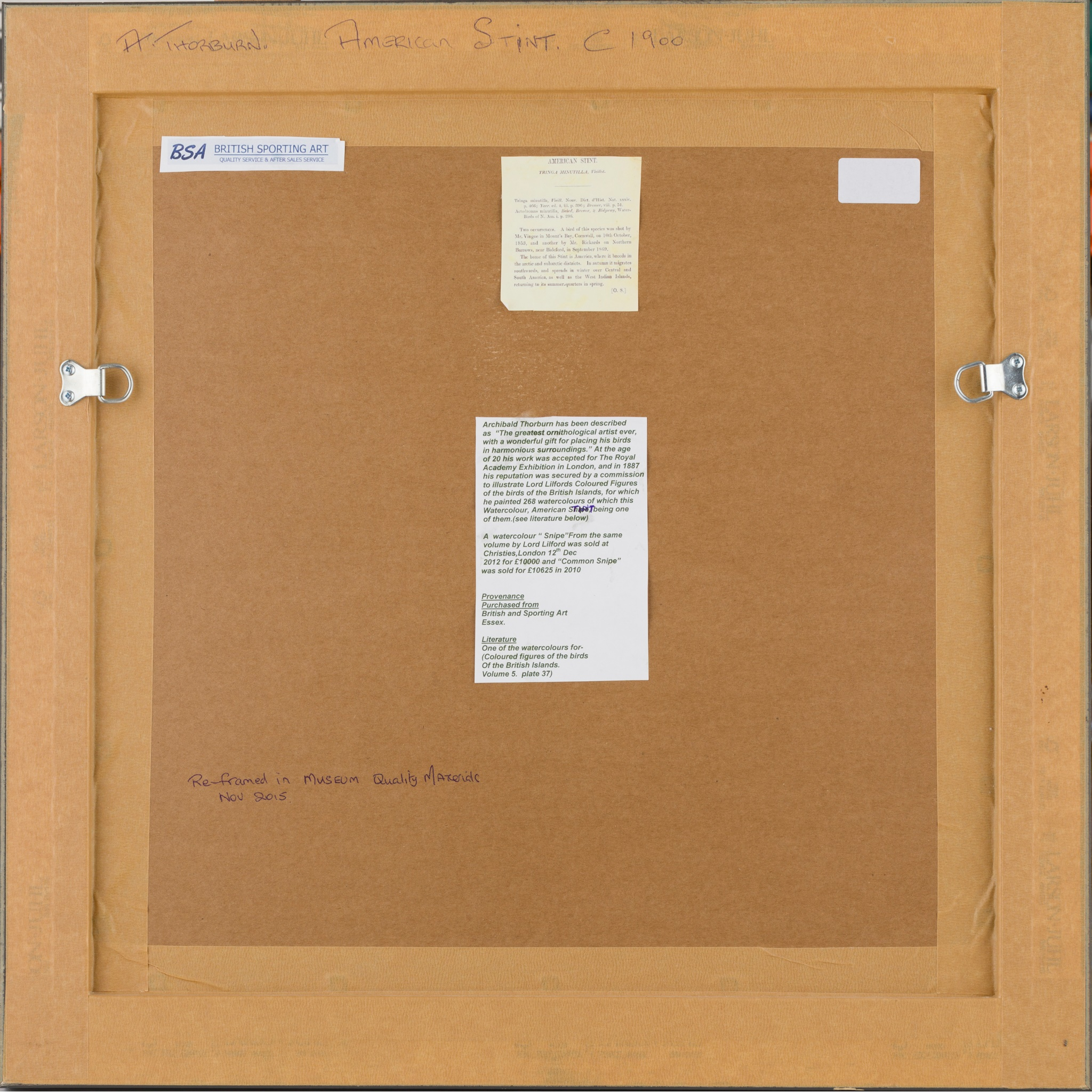 ARCHIBALD THORBURN (SCOTTISH 1860-1935) AMERICAN STINT - Image 3 of 3