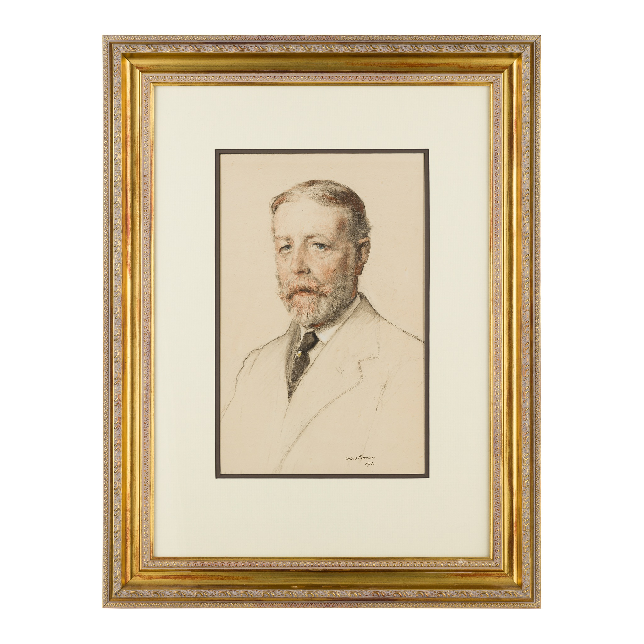 JAMES PATERSON R.S.W., R.S.A., R.W.S. (SCOTTISH 1854-1932) PORTRAIT OF J.COOK- 18 INDIA STREET - Image 2 of 3