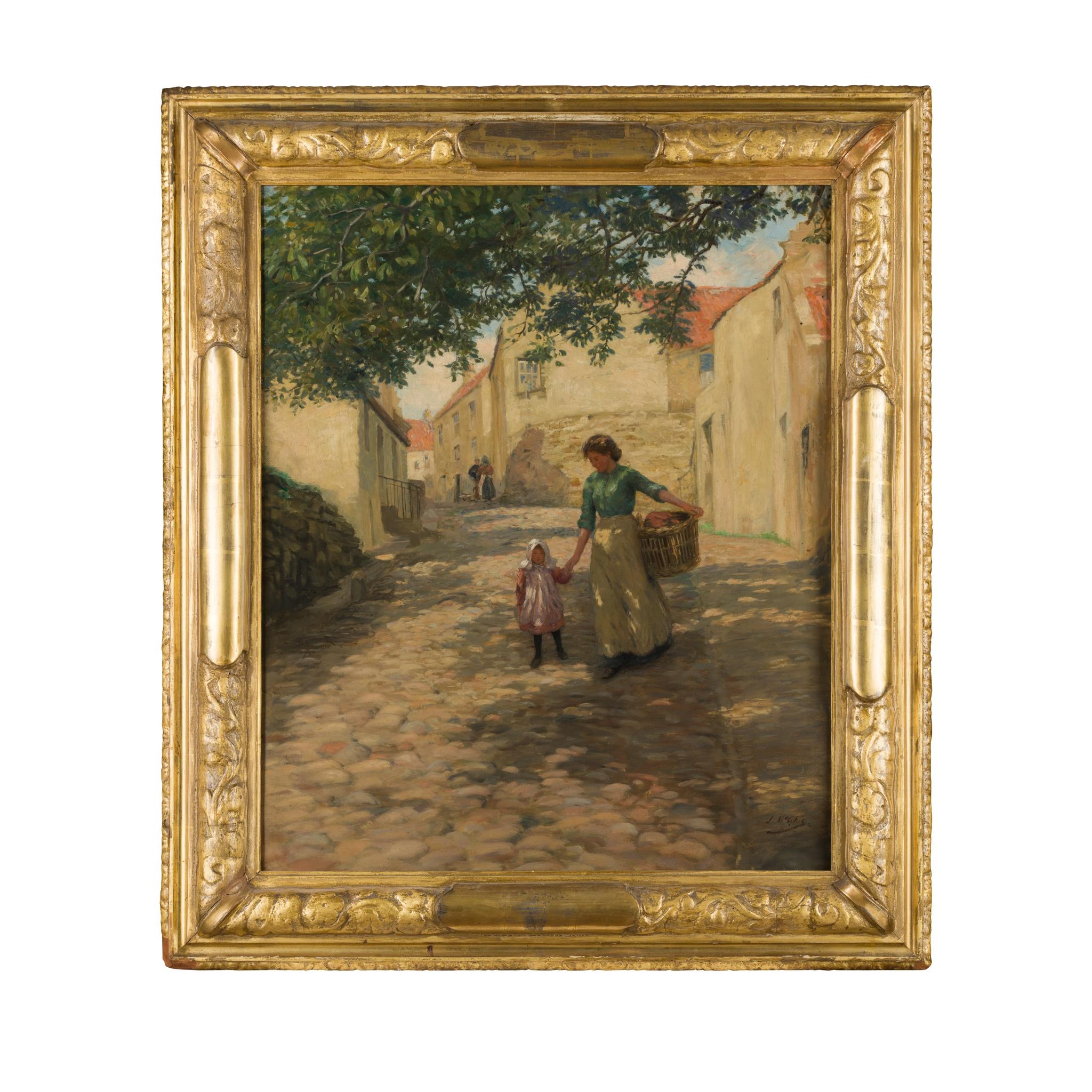 § JOHN MCGHIE (SCOTTISH 1867-1952) WASH DAY - Image 2 of 3