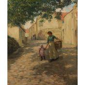 § JOHN MCGHIE (SCOTTISH 1867-1952) WASH DAY