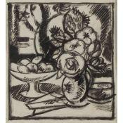 § JOHN DUNCAN FERGUSSON R.B.A. (SCOTTISH 1874-1961) FLOWERS AND FRUIT 1911
