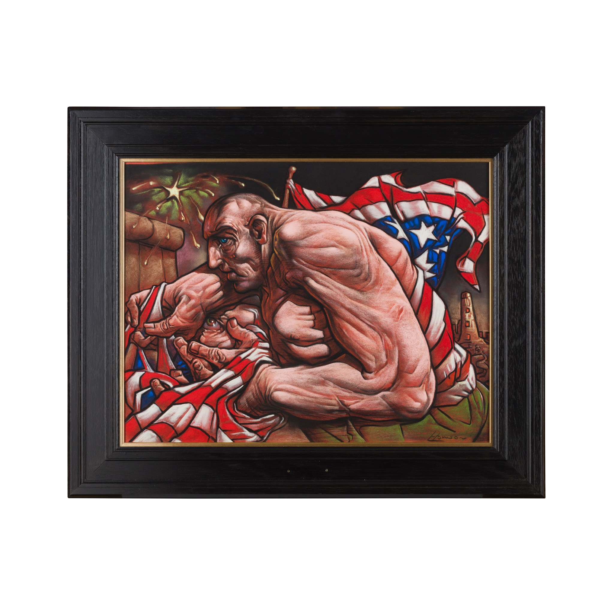 § PETER HOWSON O.B.E. (Scottish B.1958) SENTINAL - Image 2 of 3