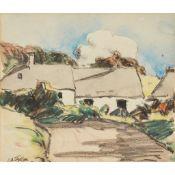 § ERNEST ARCHIBALD TAYLOR (SCOTTISH 1874-1951) COTTAGES
