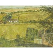 § VICTORIA CROWE O.B.E., F.R.S.E., R.S.A. (SCOTTISH B.1945) VIEW FROM CARLOPS HILL