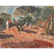 § WILLIAM WILSON O.B.E., R.S.A., R.S.W. (SCOTTISH 1905-1972) OLIVE TREES IN PROVENCE