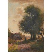 JOHANNES KAREL LEURS (DUTCH 1865-1938) TREES BY THE ROAD