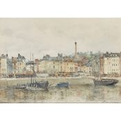 JULES LESSORE (FRENCH 1849-1892) FRENCH HARBOUR