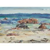 § SHONA BARR (SCOTTISH B.1965) WEST COAST BEACH