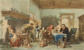 HERMAN FREDERICK CAREL TEN KATE (DUTCH 1822-1891) RENT DAY