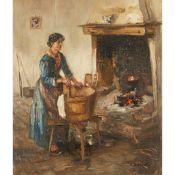 EUGEN DEKKERT (SCOTTISH 1899-1940) LAUNDRY DAY