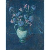 § JOHN MILLER R.S.A., R.S.W. (SCOTTISH 1893-1975) STILL LIFE, BLUE
